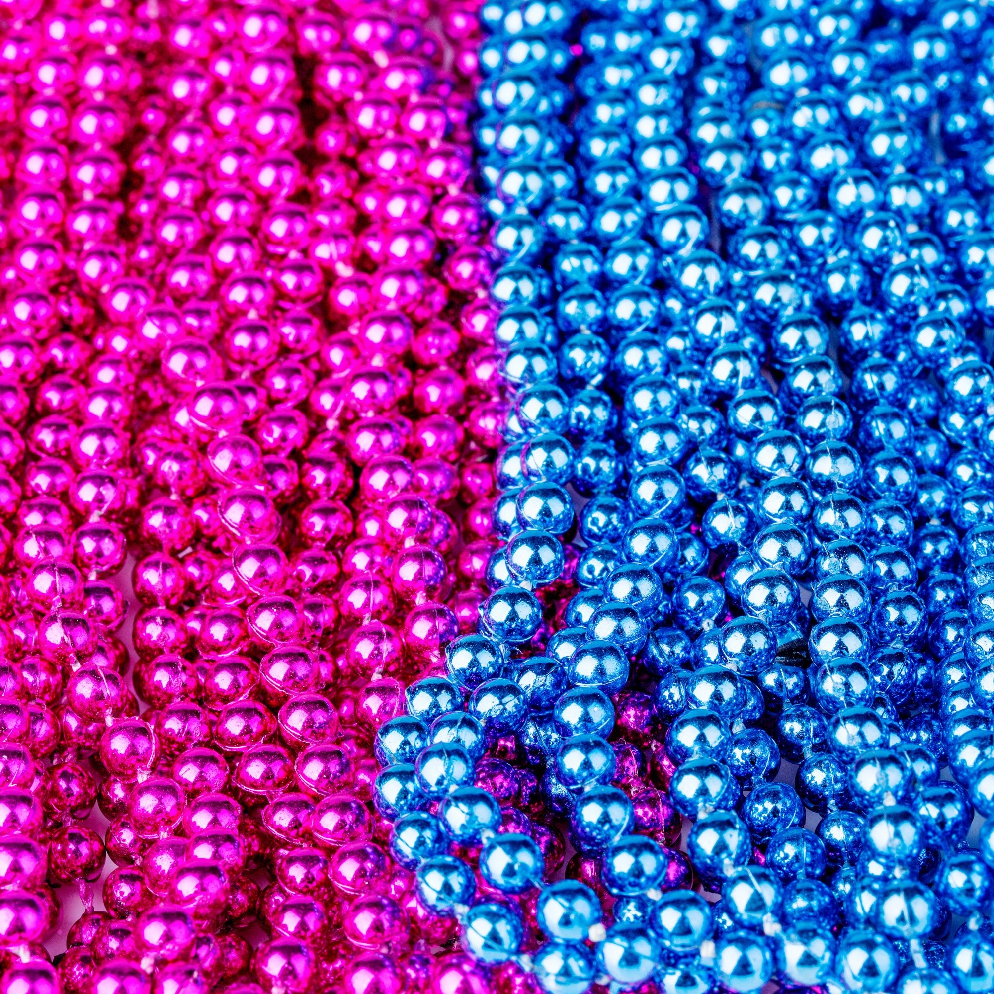 Sepco 30 Inch 4mm Round Baby Gender Reveal Beads Baby Shower Party Supplies Set of 26 Includes Pink and Blue Beads