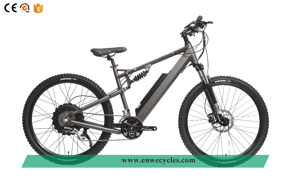 Aluminum Alloy Full Suspension 350W/500W E Bicycle Mountain Fat E Bike/ Snow Electric Bicycle/fatbike Factory for EW-EMB-A01-S10