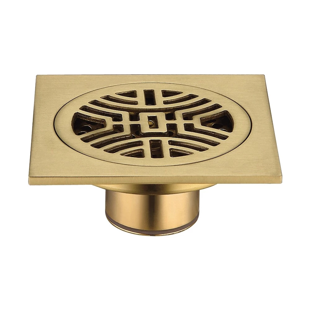 High quality Brass Modern Style Custom Design Antique Square Shower Floor <strong>Drains</strong>