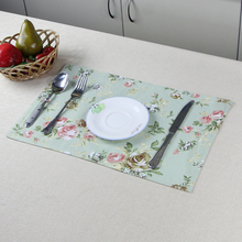 custom sailboat design print decorative cotton dinner table cloth mat fabric placemat
