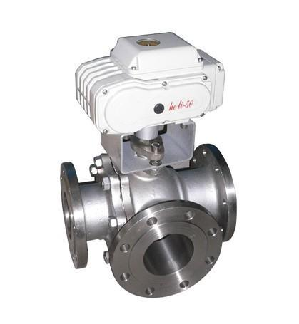 PVC Three Way Motorized Ball Valve