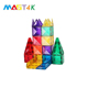 MAGT4K 128 PCS Safety ABS Plastic Cube Magnet Stacking Set Toys for Toddlers