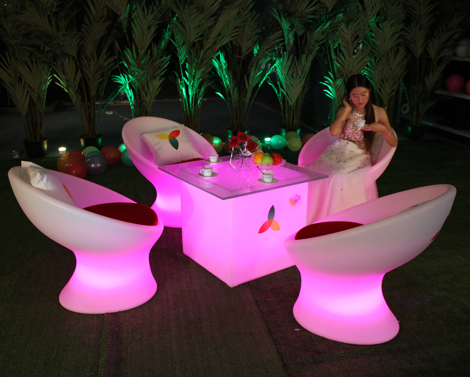 LED illuminated commercial furniture illuminated commercial plastic chairs for events