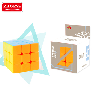Zhorya wholesale high quality professional plastic toy kids colorful game 3x3x3 magic speed cube