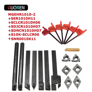 7pcs High Hardness Lathe Boring Bar Turning Tool Holder 10mm with Wrenches 7pcs DCMT CCMT Carbide Inserts tool