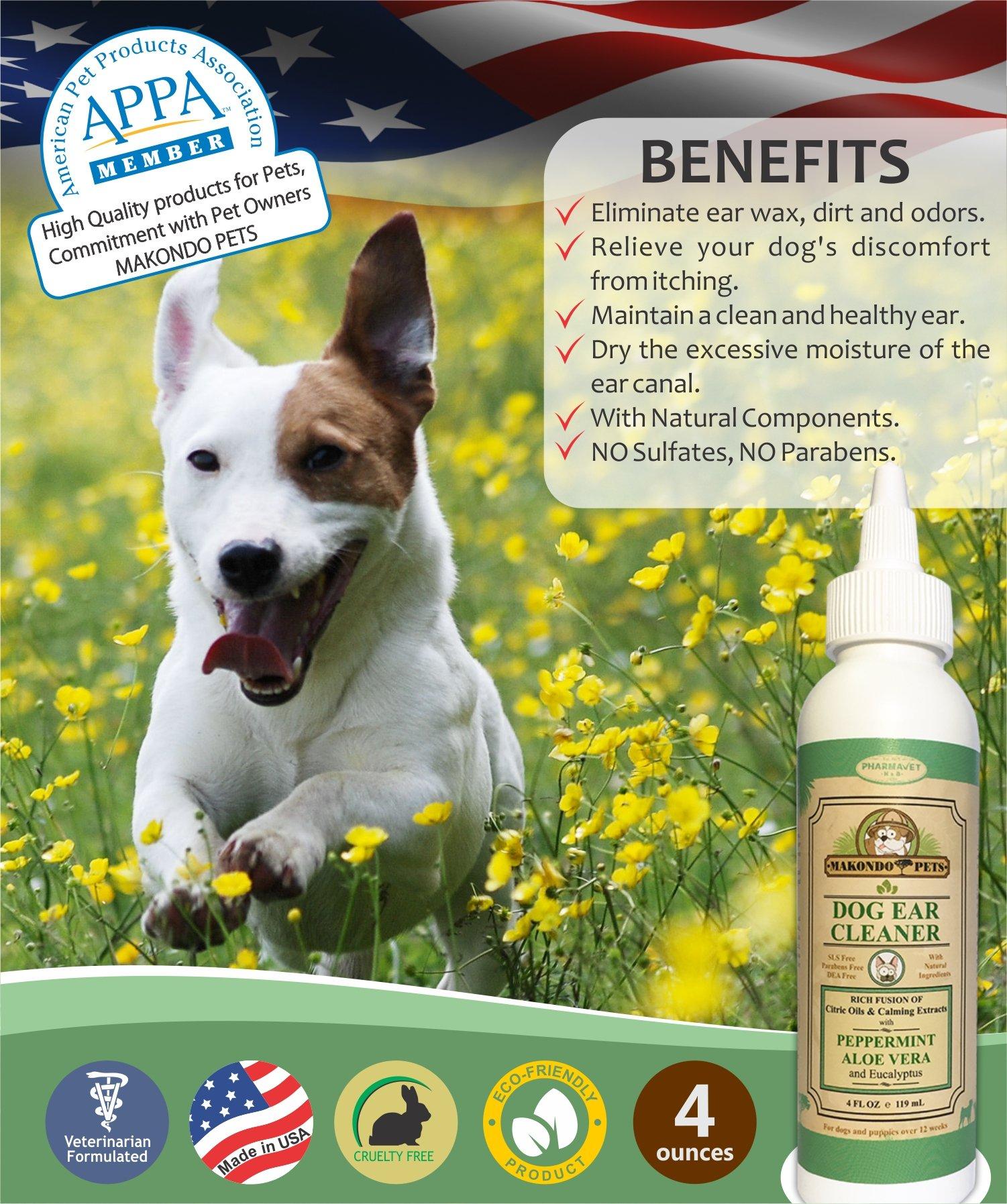 Buy Makondo Pets Dog Ear Cleaner/Advanced Dog Ear Wax Remover- All