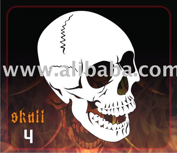 Airbrush Stencil By Deltaarts Skull 4 - Buy Stencil Deltaarts Product on  Alibaba com