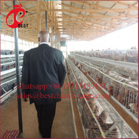 Brand new a frame 3 tiers from poul tech galvanized strong structure farming chicken cage equipments for wholesales