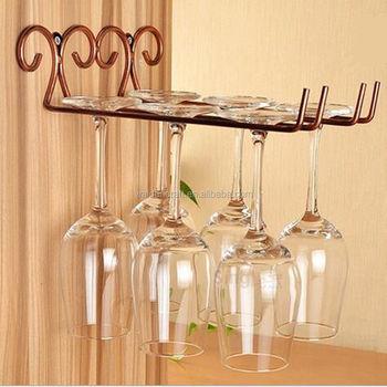 Bronze Metal Wall Wine Gl Hanger