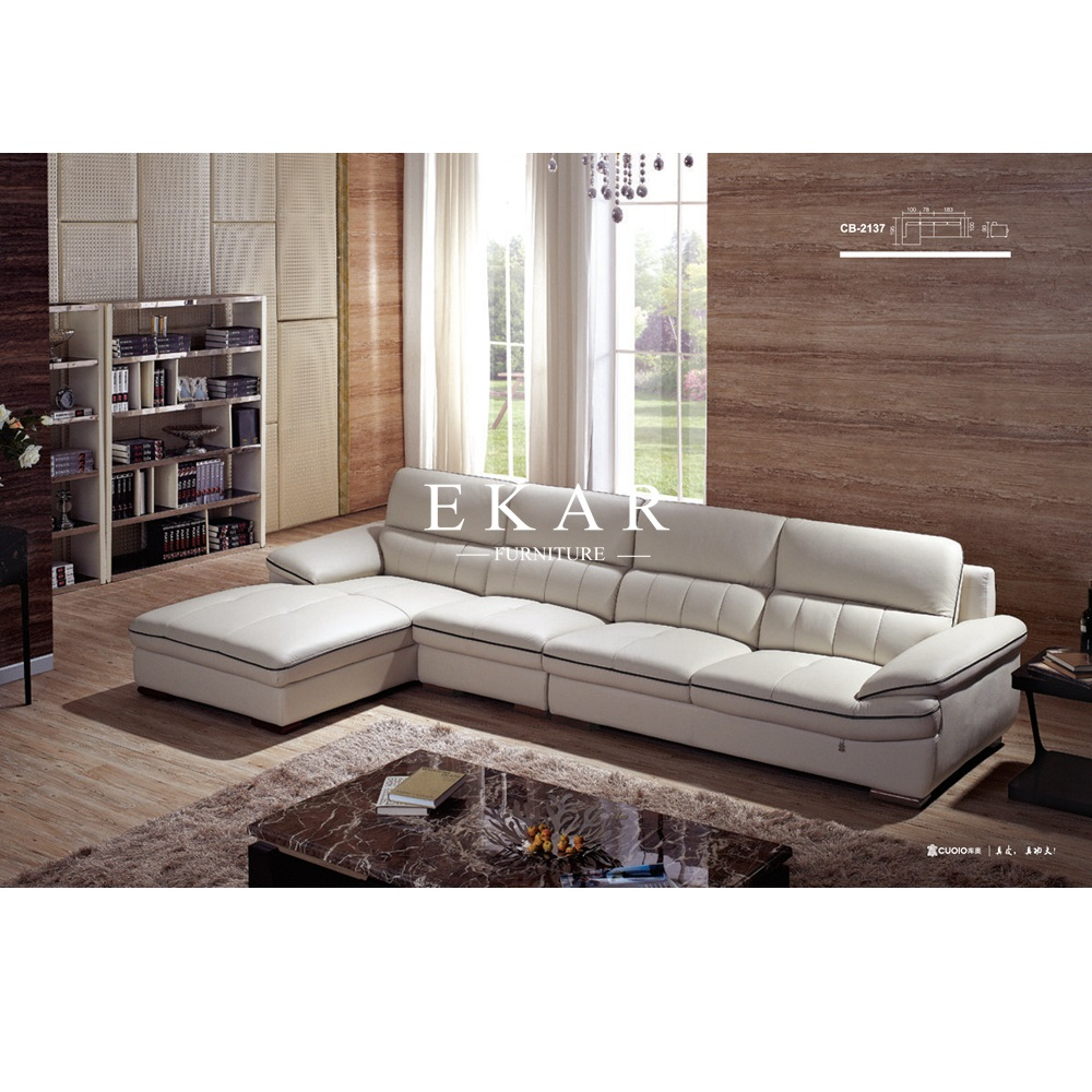 Home Furniture Luxury Modern White Leather Sectional Sofa Prices   Buy  Leather Sofa Design,L Shaped Sofa,Modern Sectional Sofa Product On  Alibaba.com