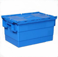 Storage Stackable Plastic Rolling Tote Box Logistics Company Use