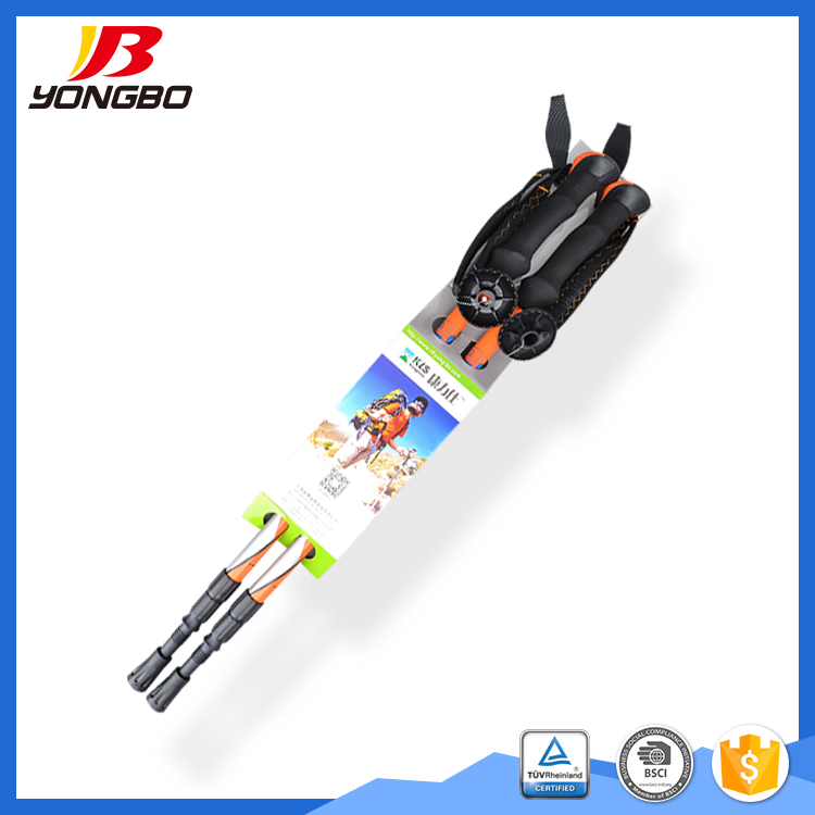 2017 fashionable sticks High quality logo printed multifuction trekking poles for outdoor sports