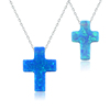 hot selling opal jewelry stone cross pendants necklace