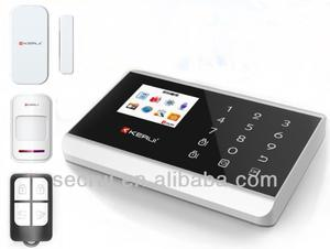 2013 new product touch panel Lcd display wireless burglar alarm system(KR-8218G)