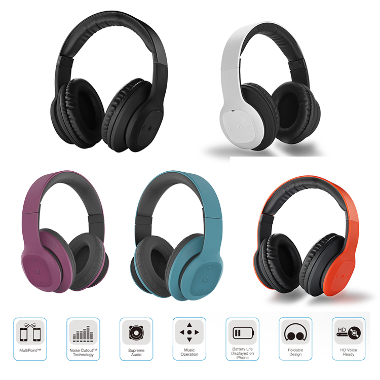 BlueXtel New Stereo Headband over-ear BT  bluetooth headset Wireless Headphones