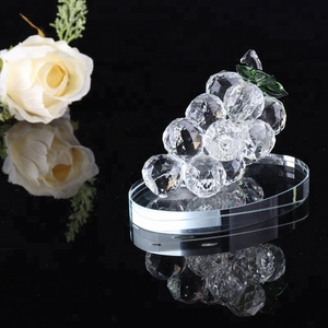 Crystal Grape Cluster For Home Decoration Decorative Glass Grape Ornaments Gifts