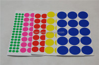 Adhesive label sticker customized printing circle labels design dot label