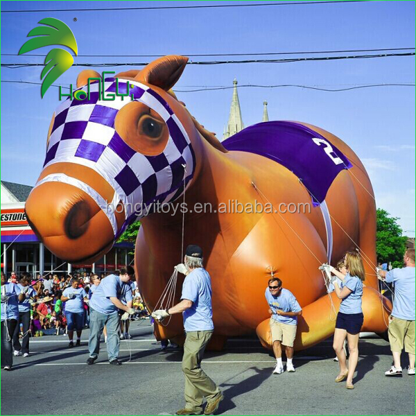 2016 Large Advertising Inflatable Helium Horse , Giant Inflatable Race Horse For Sale