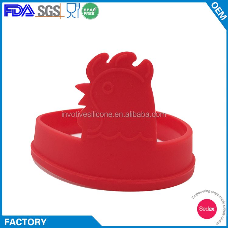 Animal Shaped Silicone Fried Oven Poacher Pancake Egg Poach Ring Mould