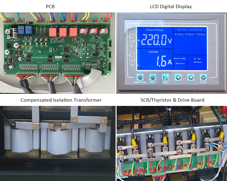 120kva 3 phase scr automatic voltage regulator avr