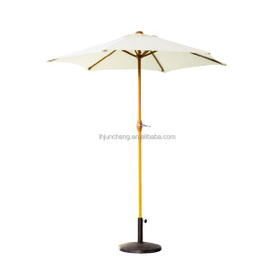 7' Teak color Patio Umbrella