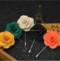 5Pcs Men Flower Boutonniere Wedding Corsage Prom Lapel Stick Pin Hat Brooch