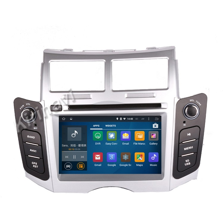Kirinavi WC-TY6221 android 5.1 car radio gps for <strong>toyota</strong> yaris 2005-2011 car dvd player multimedia WIFI 3G playstore