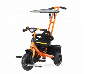 Baby Tricycle/quality baby stroller/baby bicycle with pedals, rear bags, sun-fender, bell ring/ children bike YQ10-36
