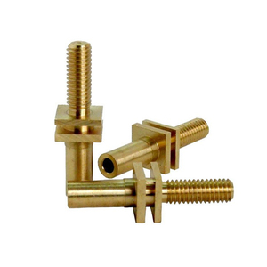 High precision brass automatic CNC turning part with nickel plated for equipments