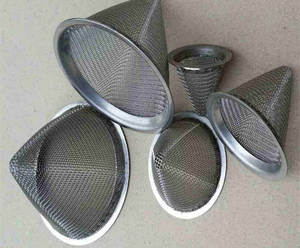 pipe screen mesh cone shaped stainless steel wire screen 304 filter tea