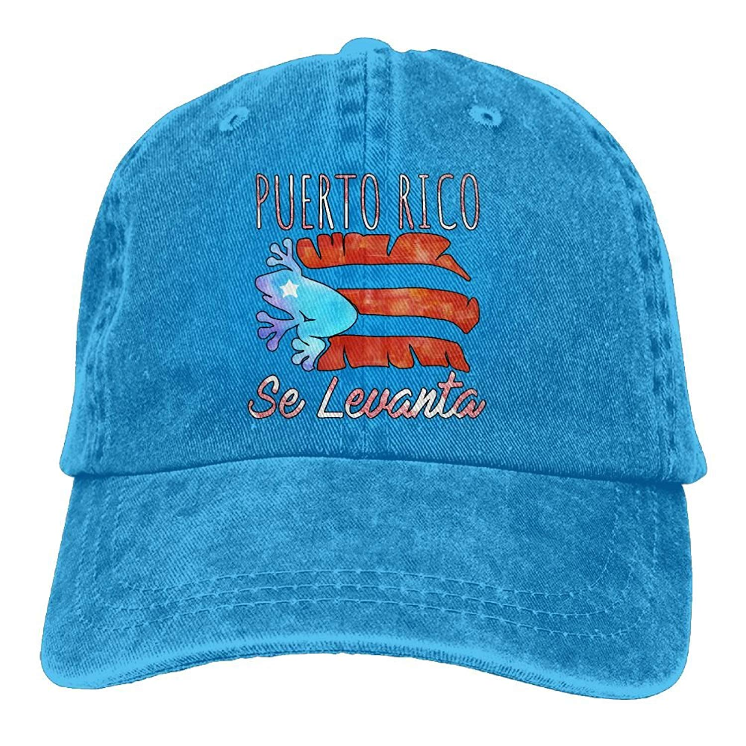 448567b4f113e Flag Puerto Rico Island Blue Adjustable Strapback Cap Dad Hat 10.0. Puerto  Rico Se Levanta Frog Coqui Boricua Pride Fashion Men   Women Adjustable  Cowboy ...