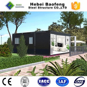 friendly with system prefab house container and new designs coffee bar construction house Philippines