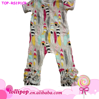 d459866e6cf6 Wholesale cotton baby clothes funny baby bodysuit feather icing ...