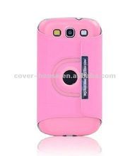 360 Degree Rotate for Samsung i9300 galaxy S3 cell phone case with stand