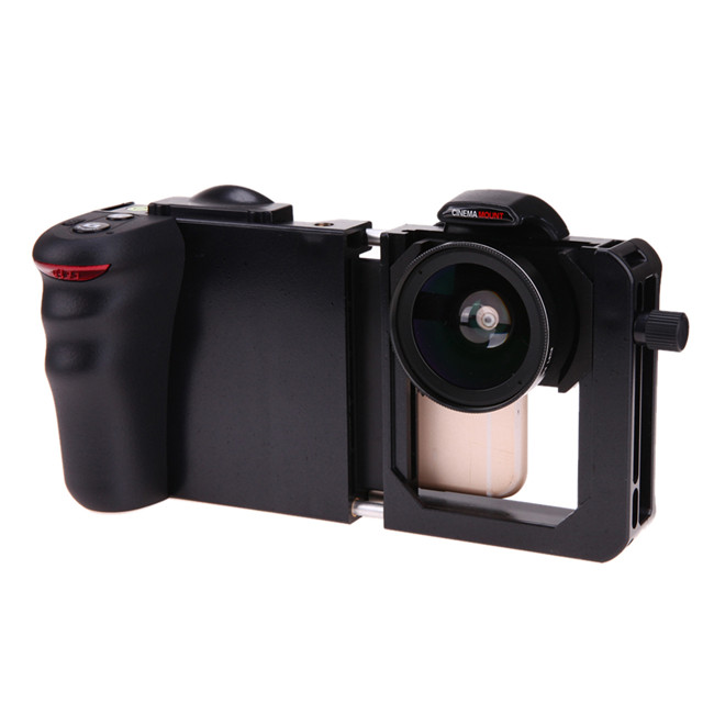 Portable Mobile Phone Camera Cage Handsfree Housing Frame with Bluetooth Wide Angle Lens