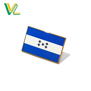 Custom high quality Zinc Alloy Honduras Country for shop Metal Pin Flags