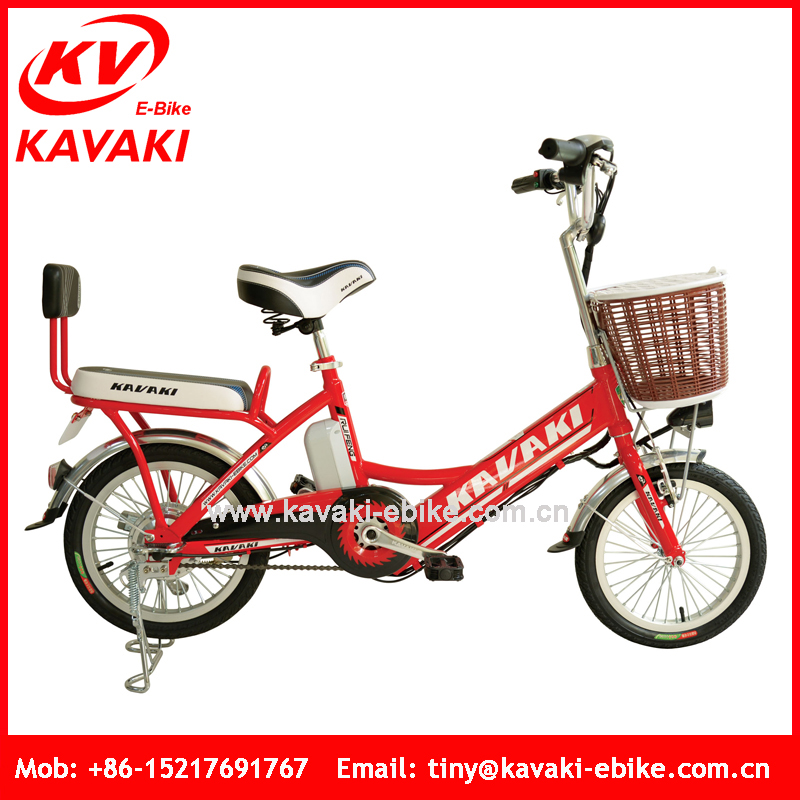 2016 Kavaki Factory Wholesale 16 inch Green City Street Bicycle Electric Bike