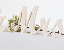 Mr and Mrs wedding wooden table sign