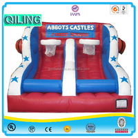 Qi Ling large hot inflatable basketball training equipment