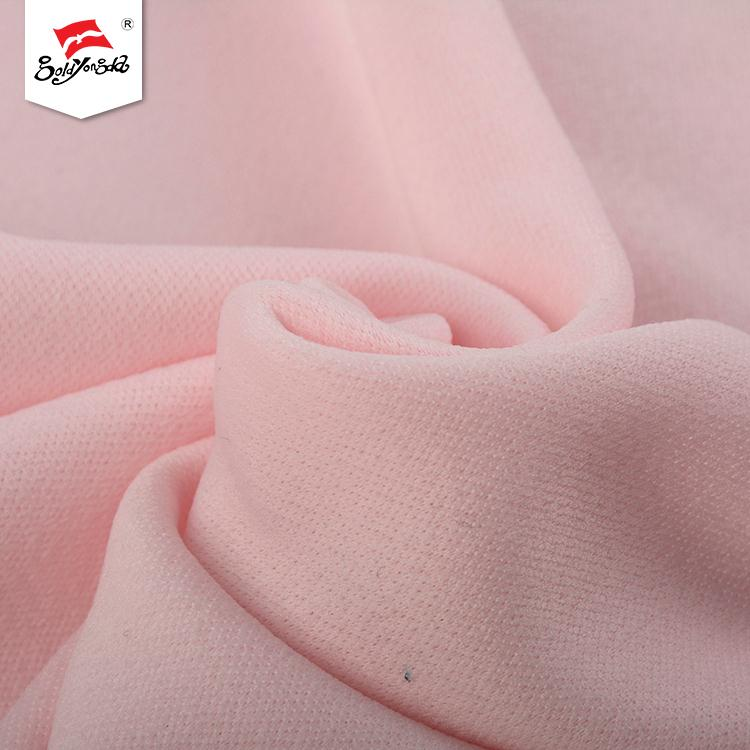 Good price different kinds soft hand feel scuba knitted fabric polyester