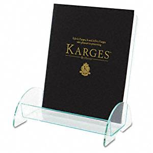deflect-o : Euro-Style Docuholder Plastic Magazine Display Rack, Clear with Green Tint Edges -:- Sold as 2 Packs of - 1 - / - Total of 2 Each