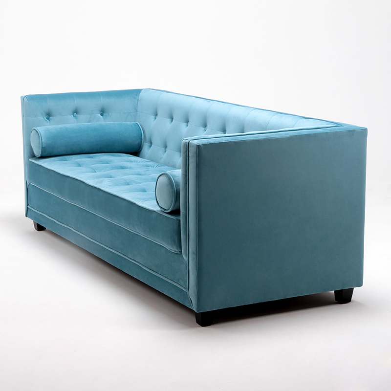 Urban Style Tufted Square Leather Sofa