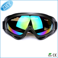 Outdoor Motorcycle Bike Snowmobile Ski Goggles Protective Eyewear with Scratch Resistant Lens Safety Protective