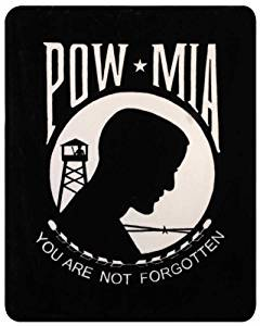 """Heavy Weight POW-MIA """"You are Not Forgotten"""" Polyester Mink Blanket"""