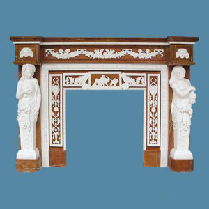 Indoor White Marble Fireplace Hearth, Corner Faux Stone Fireplace Mantels