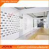 fashion white color style optical store optical shop layout design