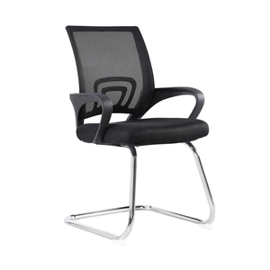 Hot Sale Black Fixed Staff Mesh Office Chair No Wheels Office Visitor Chair
