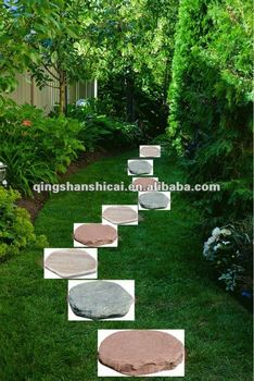 Wonderful Round Decorative Grass Garden Stepping Stone,garden Round Stone Paver,garden  Paver Stone,