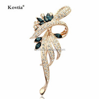 Full diamond crystal jewelry high quality brooches wholesale