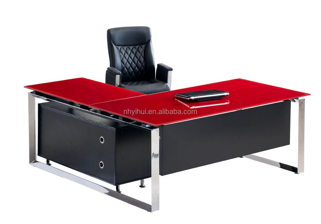 contemporary glass office desk. perfect desk executive office glass chrome desks desks  suppliers and manufacturers at alibabacom intended contemporary desk 7